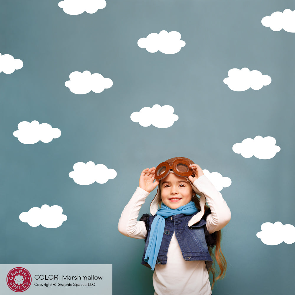 Extra Clouds Fabric Wall Decal