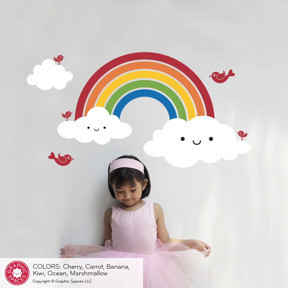 ... Happy Rainbow Wall Decal ...