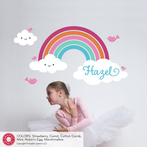 Rainbow Wall Decal Personalized Name