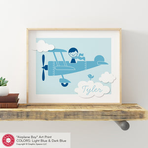 Airplane Boy Art Print