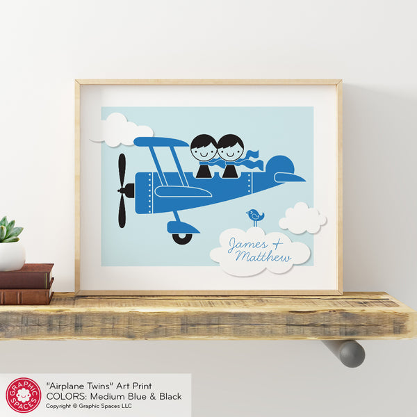 Airplane Brothers Art Print