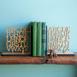 Alphabet Wooden Bookend