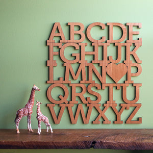 Alphabet Wooden Wall Hanging