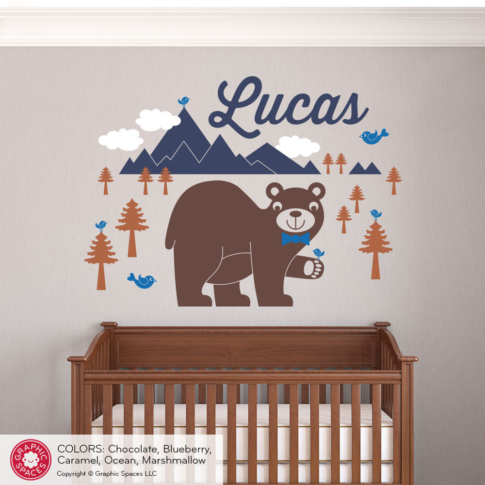Bear mountain with name wall decal graphic spaces bear mountain with name wall decal amipublicfo Choice Image