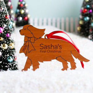 Cavalier King Charles Spaniel Wooden Christmas Ornament