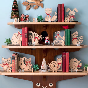 Owl Wooden Bookend