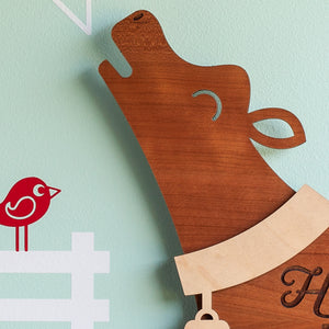 "Cow Wooden Wall Sign ""Home is where the herd is"""