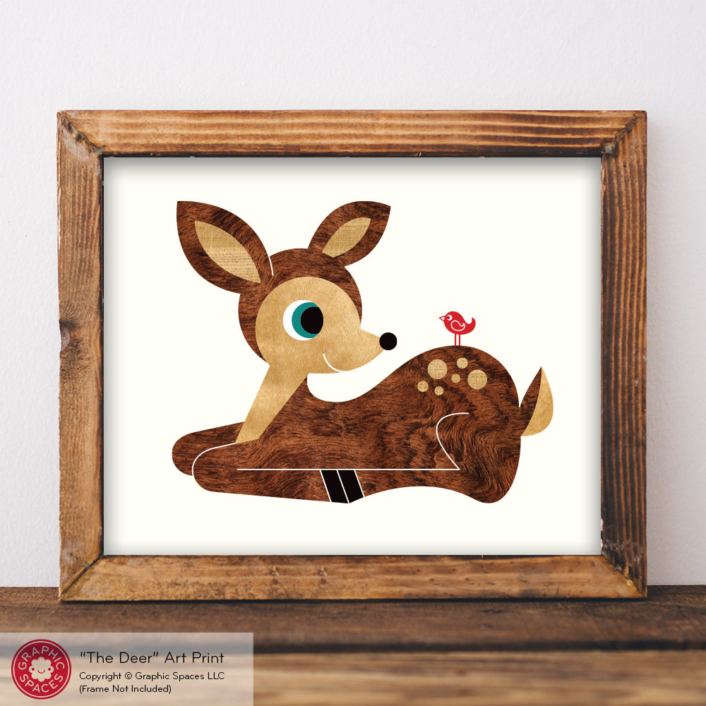 Baby Deer Nursery Art Print - Graphic Spaces