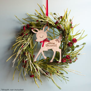 Christmas Deer Wooden Door Sign