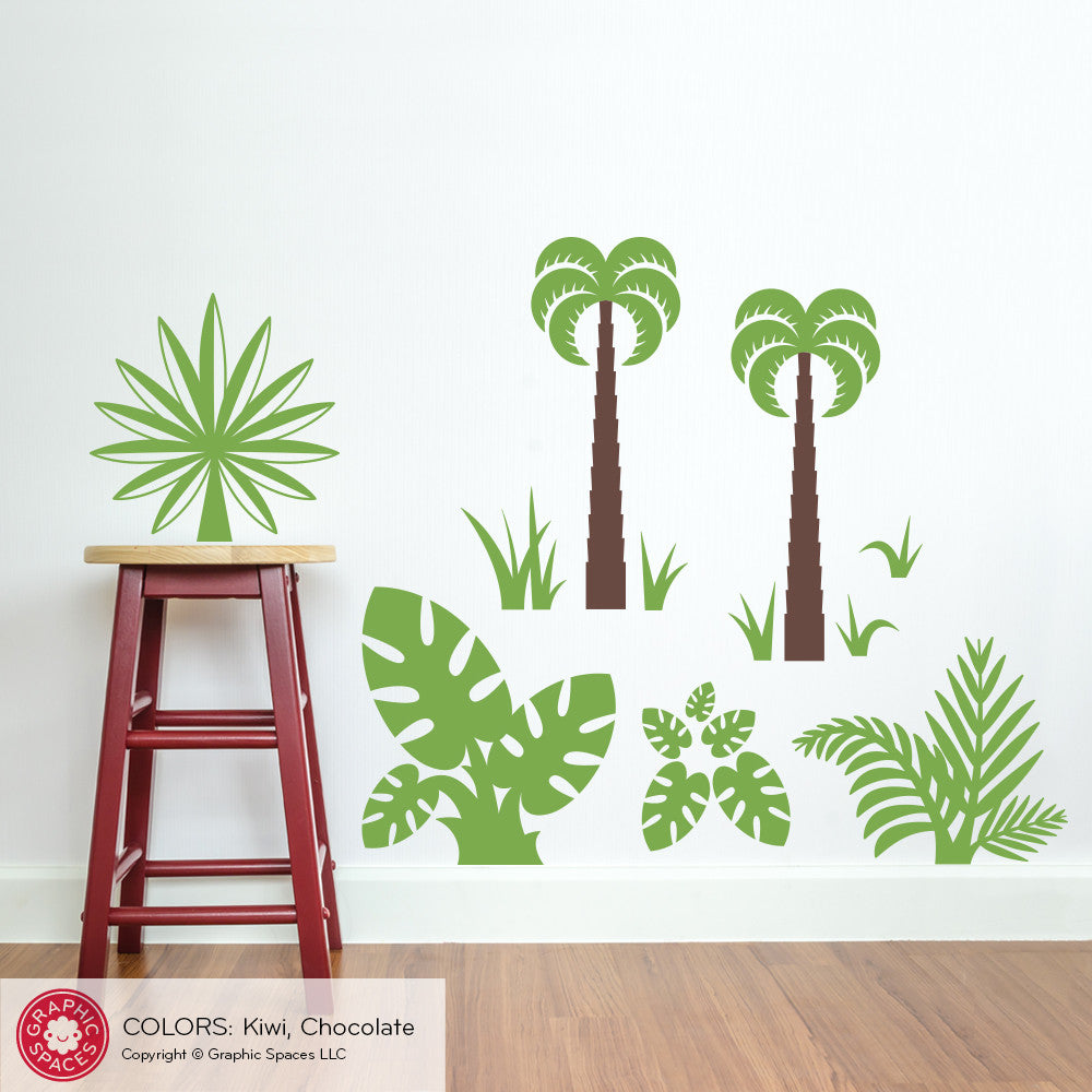 Dinosaur jungle plants wall decals graphic spaces dinosaur jungle plants wall decals amipublicfo Image collections