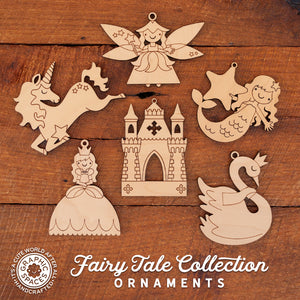 wooden princess fairy tale christmas ornament collection