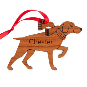 German Shorthaired Pointer Wooden Christmas Ornament