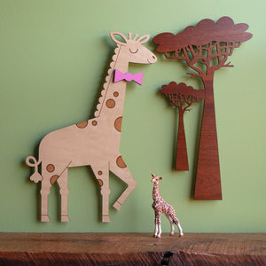 Giraffe Wooden Room Sign