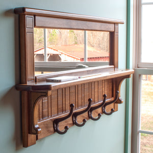 Wall Mirror Shelf & Coat Rack
