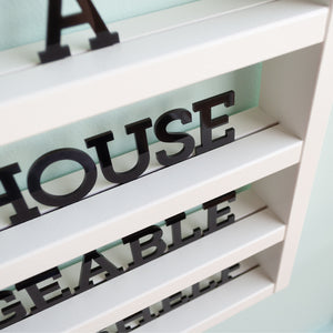 Little White House Changeable Letter Wall Shelf