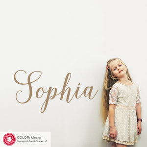 Girl's Name Wall Decal: Calligraphy Script