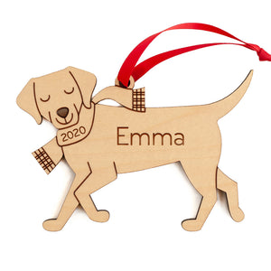 Labrador Retriever Wooden Christmas Ornament