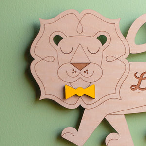 Lion Wooden Wall Hanging