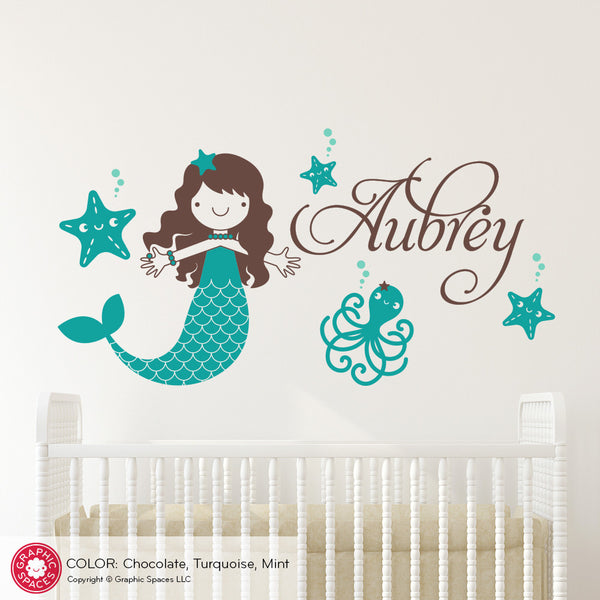 Mermaid Starfish Wall Decal
