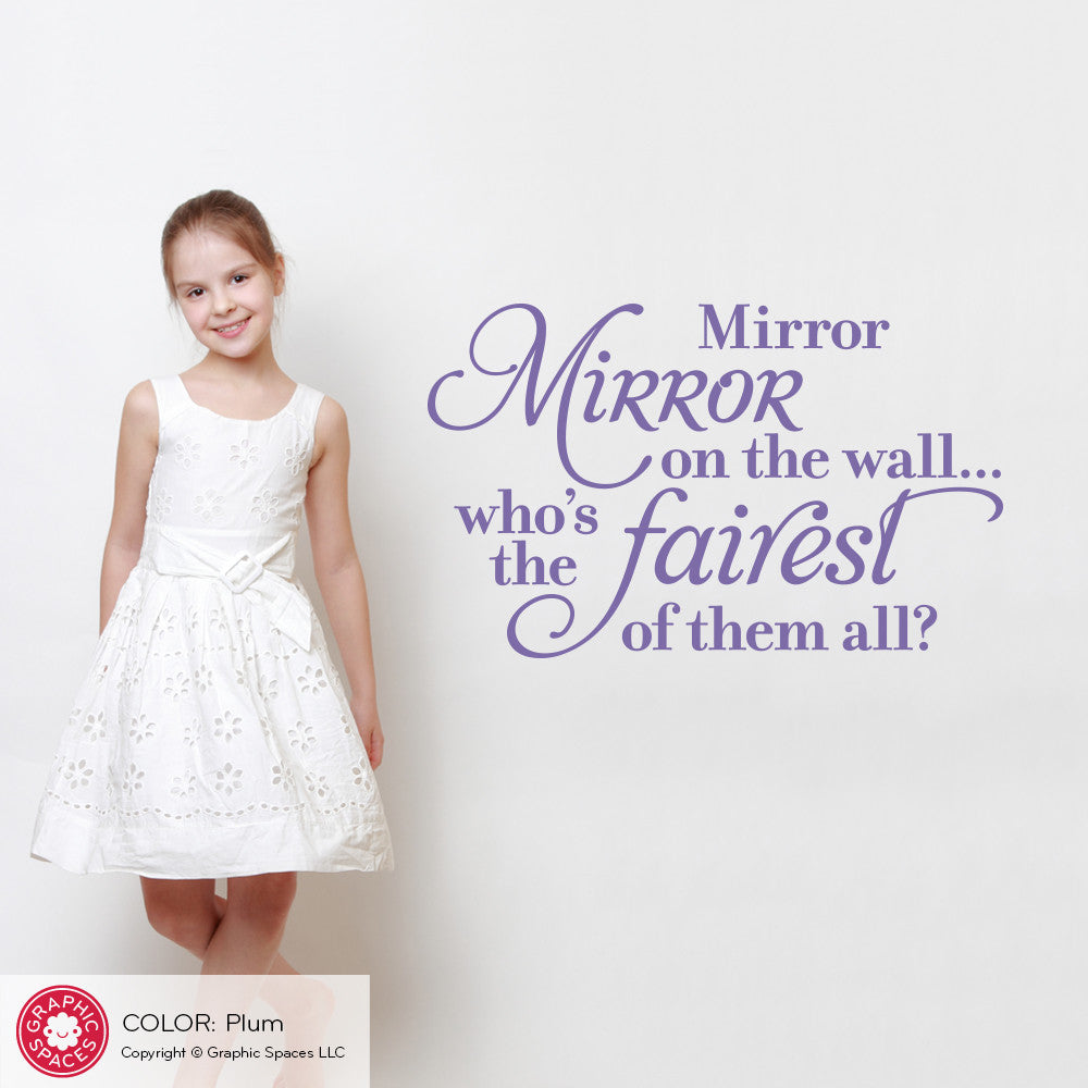 Mirror Mirror On The Wall Wall Decal Snow White Princess Quote
