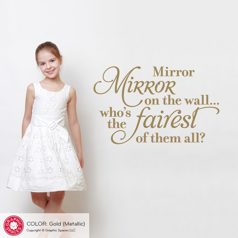 Mirror mirror on the wall wall decal snow white princess quote mirror mirror on the wall wall decal snow white princess quote amipublicfo Choice Image