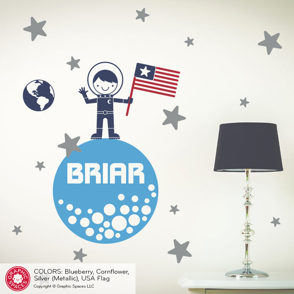 Outer Space Rocket Wall Decals personalized boy girl baby names Tagged  Personalized  - Graphic Spaces  sc 1 st  Graphic Spaces & Outer Space Rocket Wall Decals personalized boy girl baby names ...
