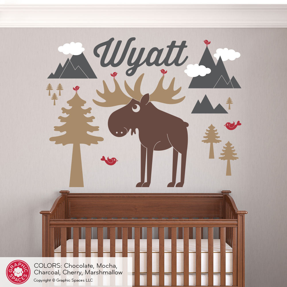 Moose mountain with name wall decal graphic spaces moose mountain with name wall decal amipublicfo Choice Image