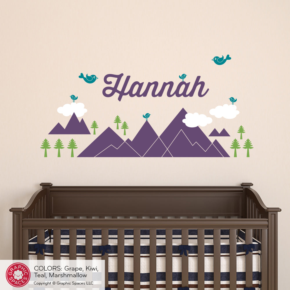 Mountain name wall decal graphic spaces mountain name wall decal amipublicfo Choice Image