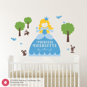 Princess Wall Decal with Name