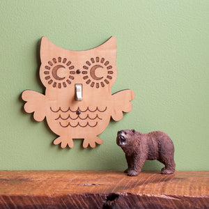 Owl Wooden Light Switch Plate Cover