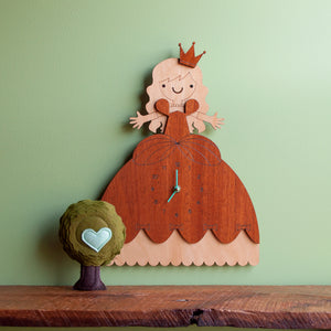 Princess Wooden Wall Clock: Personalized