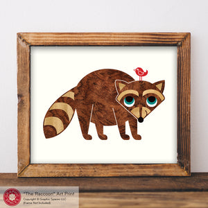 "Raccoon Art Print 8"" x 10"""