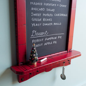 Chalkboard Menu Board Kitchen Organizer Shelf