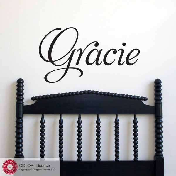 Personalized Name Wall Decal, Fancy Script