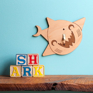 Shark Wooden Light Switch Plate Cover