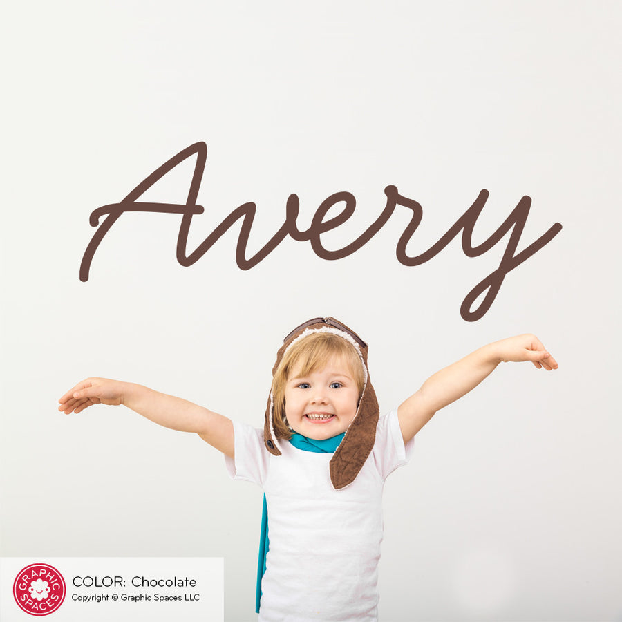 Name Wall Decal: School Cursive