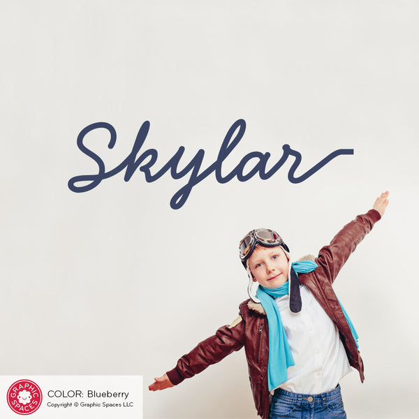 Skywriter Airplane Replacement Name with Tail Wall Decal