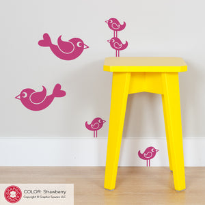 Bird Wall Decals: Small Pack