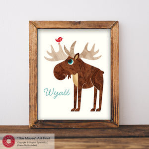 "Moose Name Art Print 8"" x 10"""