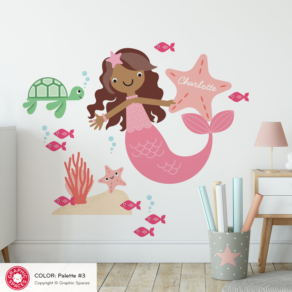 Mermaid & Ocean Friends Fabric Wall Decal
