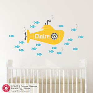 Submarine Girl Wall Decal