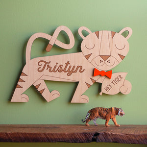 Tiger Wooden Wall Hanging