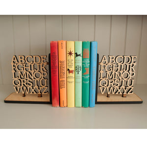 Alphabet Wooden Bookends (Set of 2)