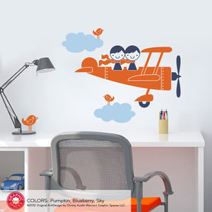 Airplane Twin Seat Wall Decal