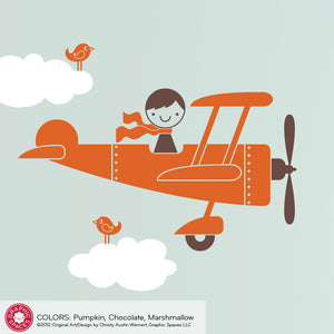 Airplane Boy Wall Decal