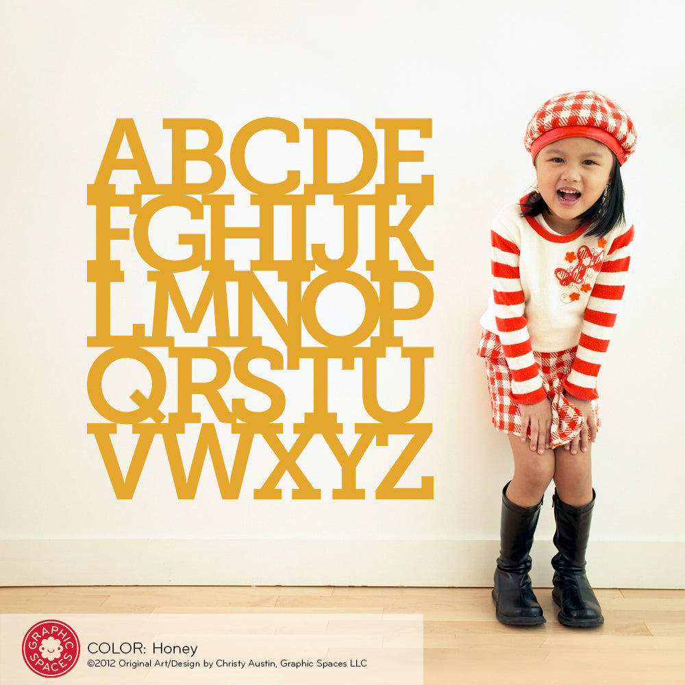 Alphabet Wall Decal - Graphic Spaces