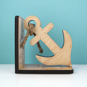 Anchor Wooden Bookend