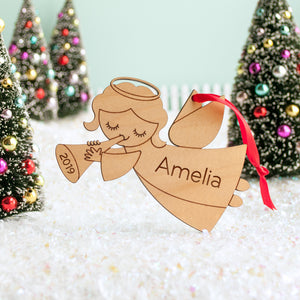 angel christmas ornament personalized