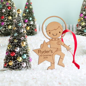 space astronaut christmas ornament personalized