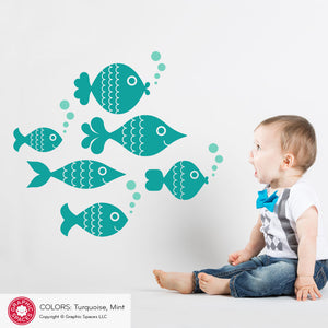 Fish Wall Decals: Ocean Big Fish
